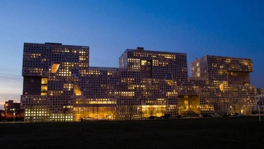 Simmons Hall, uma das residências estudantis do MIT