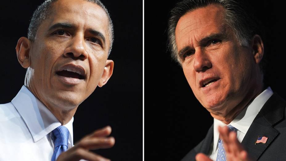O presidente dos Estados Unidos, Barack Obama, e o republicano Mitt Romney se enfrentam nesta terça no segundo debate da disputa pela Casa Branca