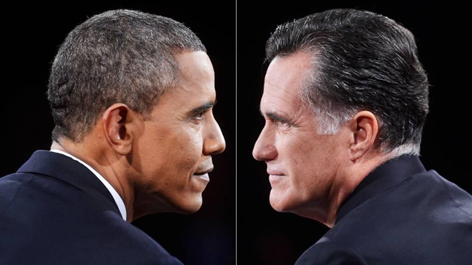 Mitt Romney e Barack Obama candidatos à presidência dos Estados Unidos