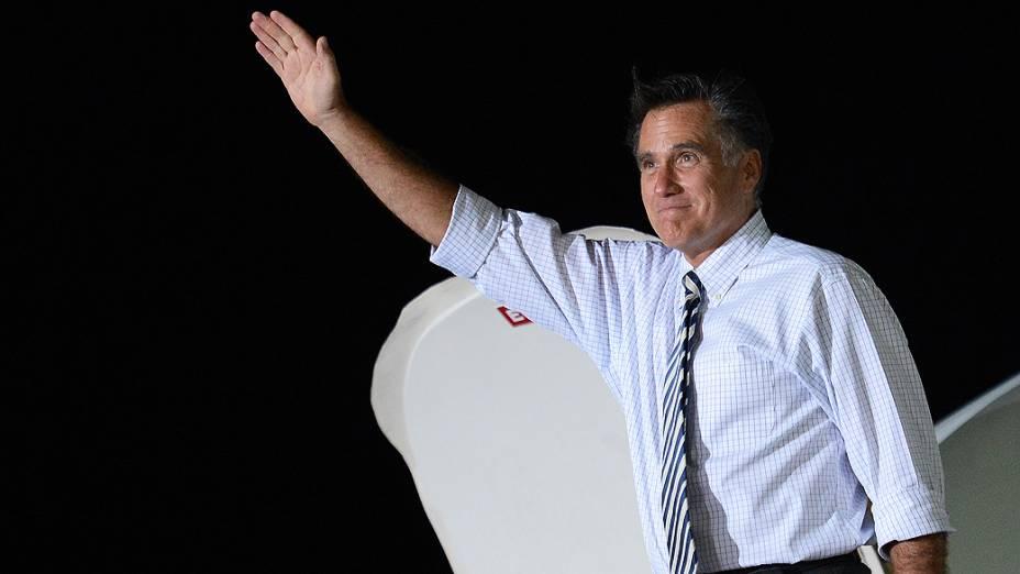 O candidato republicano à presidência dos Estados Unidos, Mitt Romney durante comício no estado americano do Iowa