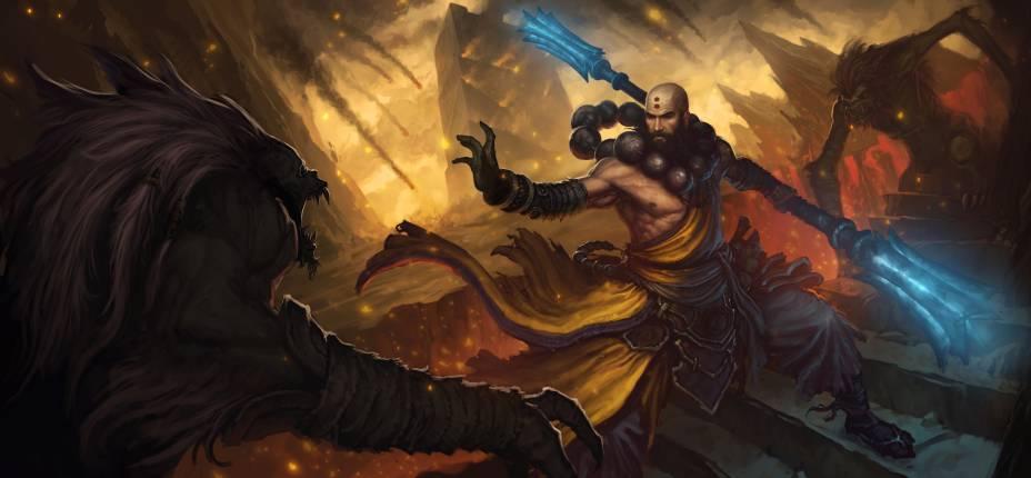 O monge é um dos personagens que podem ser escolhidos pelo jogador
