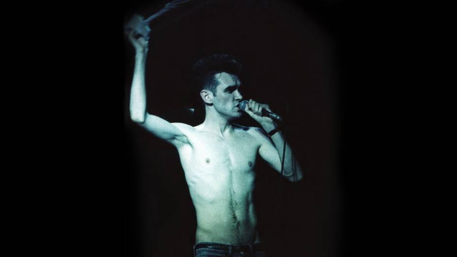 Morrissey no show dos Smiths, em 1984