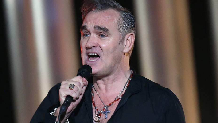 Morrissey durante show em 2013