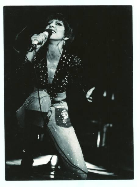 Marília Pêra no show A Feiticeira, o primeiro show em que ela atua como cantora (1975)