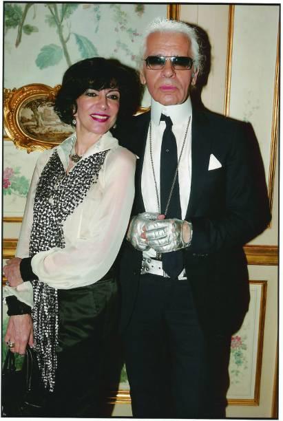 Em Paris, Marília com Karl Lagerfeld, estilista da Maison Chanel (2005)