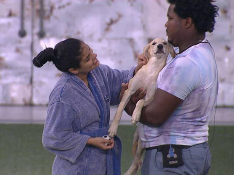 Munik, Ronan e Luna, a cachorrinha do BBB16