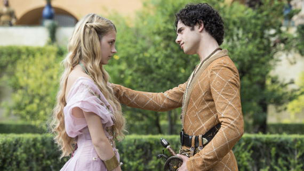 Myrcella Baratheon (Nell Tiger Free) e Trystane (Toby Sebastian) na quinta temporada de Game of Thrones