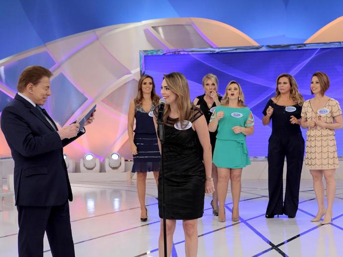 Rachel Sheherazade participa do Programa Silvio Santos