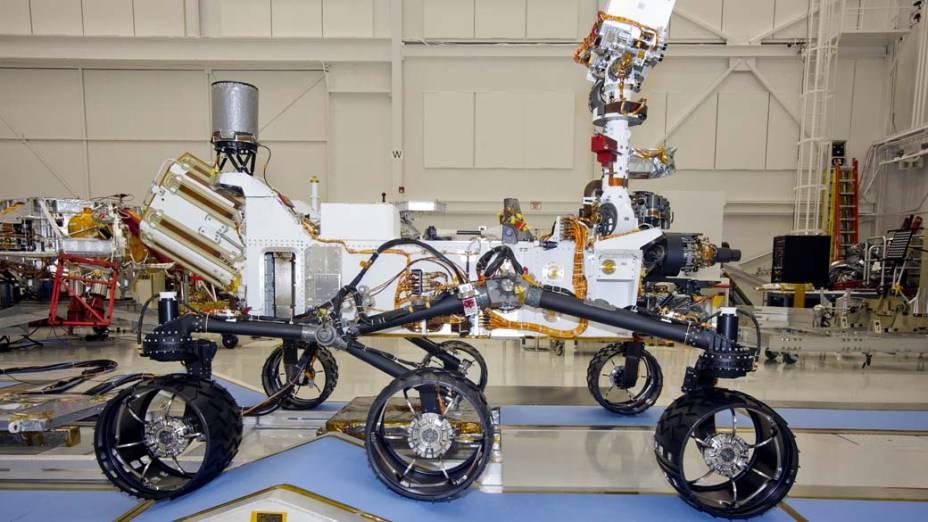 <p>Robô Curiosity nos laborátorios da NASA</p>