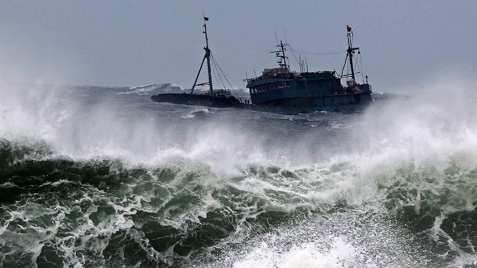 Tufão Bolaven deixa o mar agitado na Coreia do Sul; 31 ocupantes de 2 barcos que afundaram estão desaparecidos