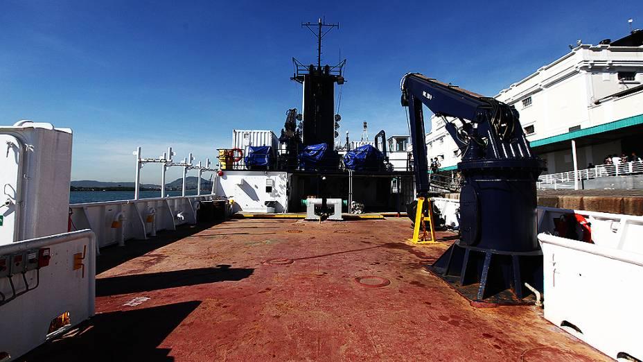 Vista do deck do navio Alpha Crucis