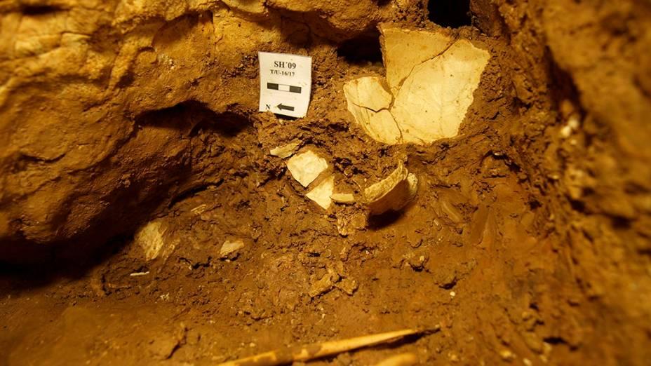 Local em que um dos crânios foi descoberto