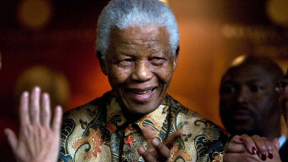 2007 - Nelson Mandela em Johanesburgo, África do Sul
