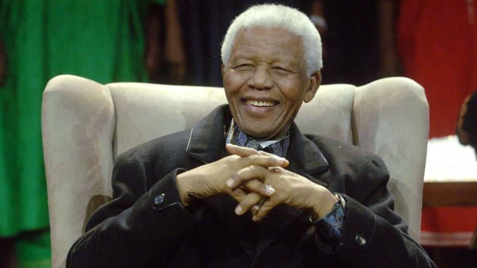 2008 - Nelson Mandela em Johanesburgo, África do Sul