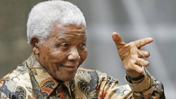 Nelson Mandela em Londres no dia 28 de agosto de 2007