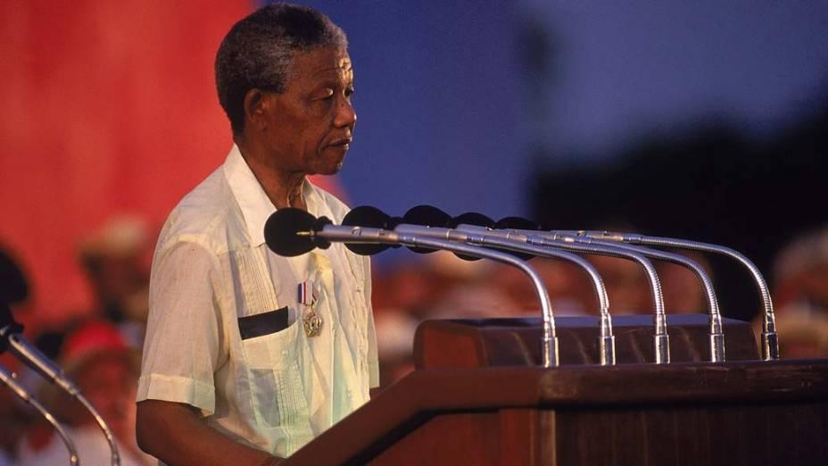 1991 - Nelson Mandela em Havana, Cuba