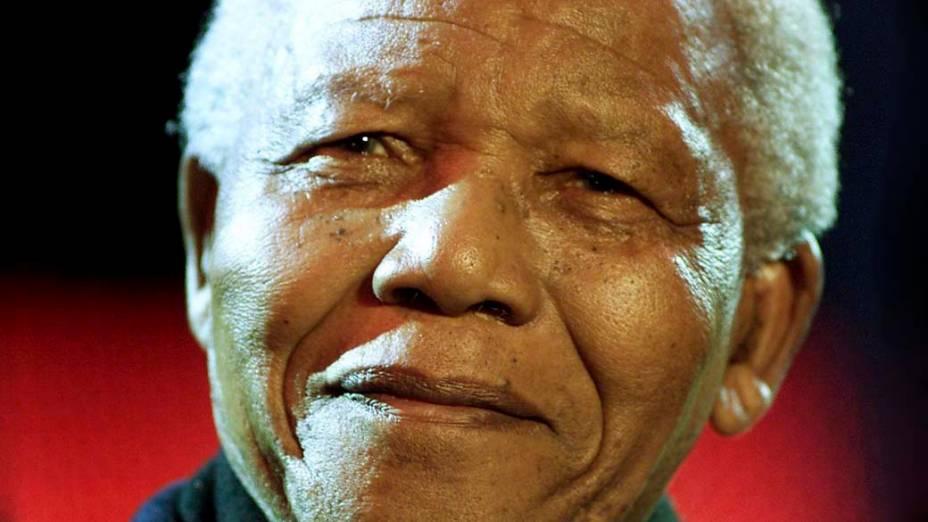 O ex-presidente sul-africano Nelson Mandela em Londres