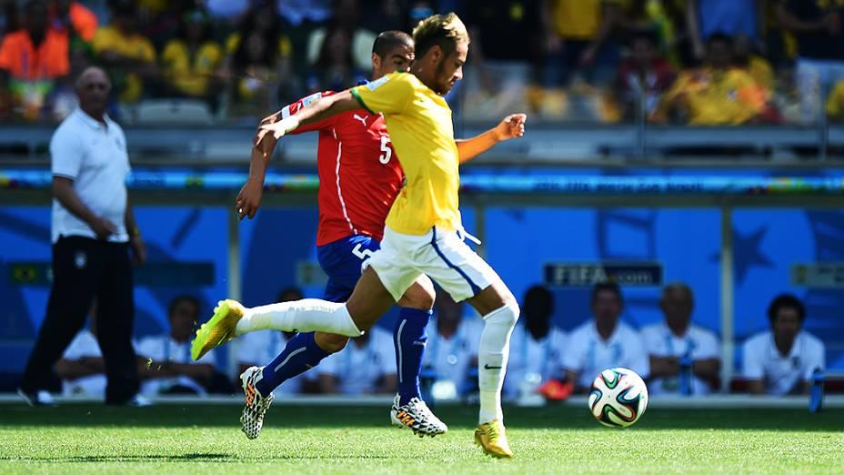 Partida entre Brasil e Chile, em Minas Gerais