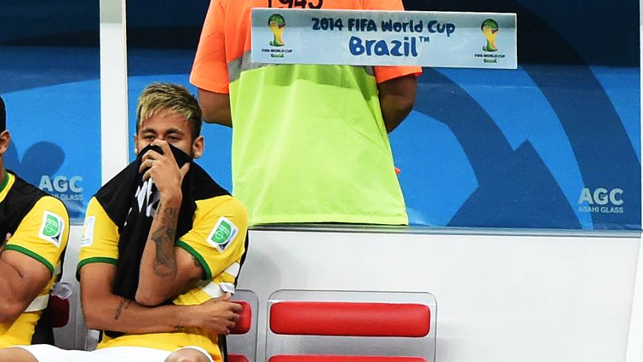Neymar durante o jogo contra a Holanda no Mané Garrincha, em Brasília