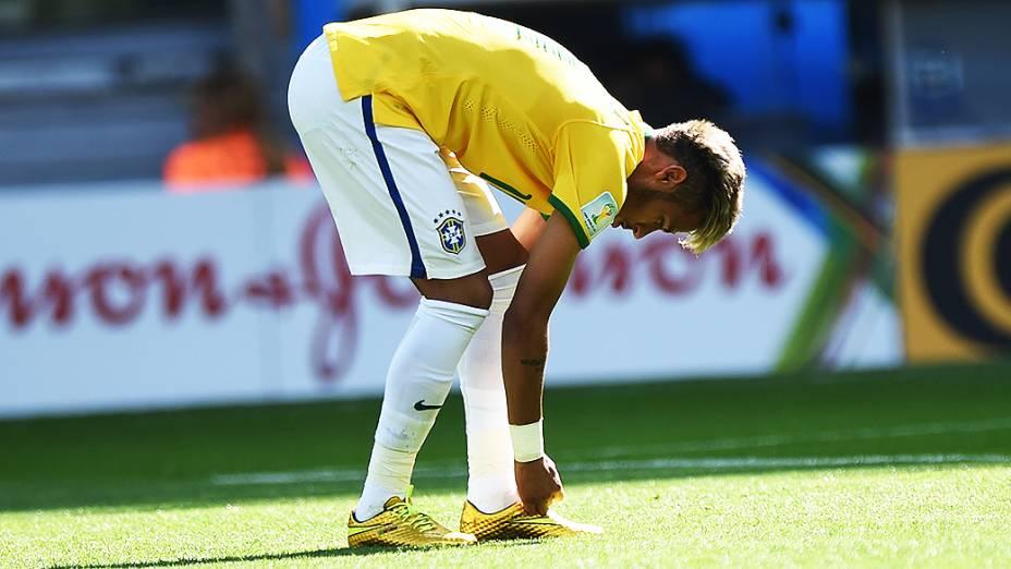 Neymar na partida contra o Chile no Mineirão