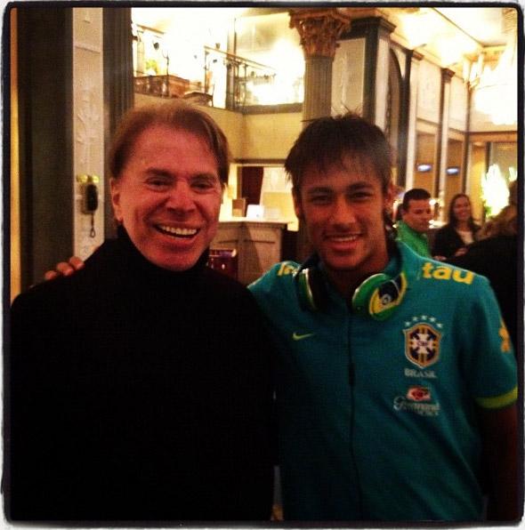 Neymar e Silvio Santos em Estocolmo, na Europa
