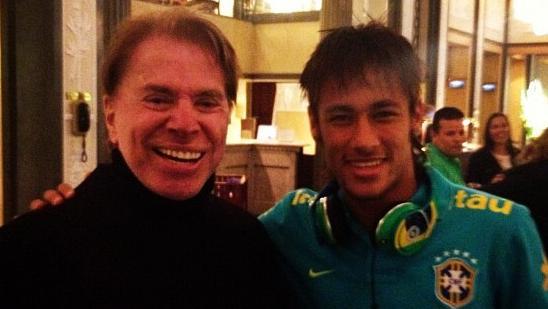 Neymar e Silvio Santos