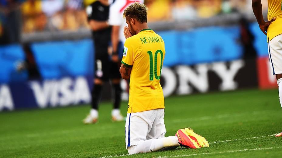 Neymar na cobrança dos pênaltis contra o Chile