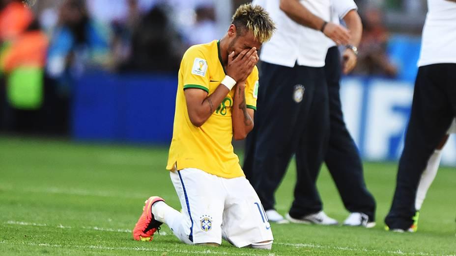 Neymar durante cobrança de pênaltis no Mineirão