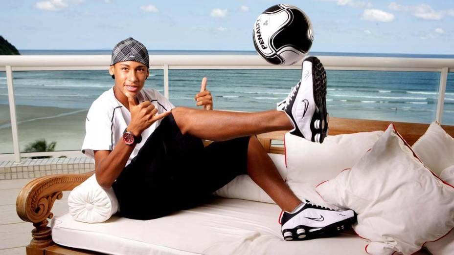 Neymar, atacante do Santos, em 2009