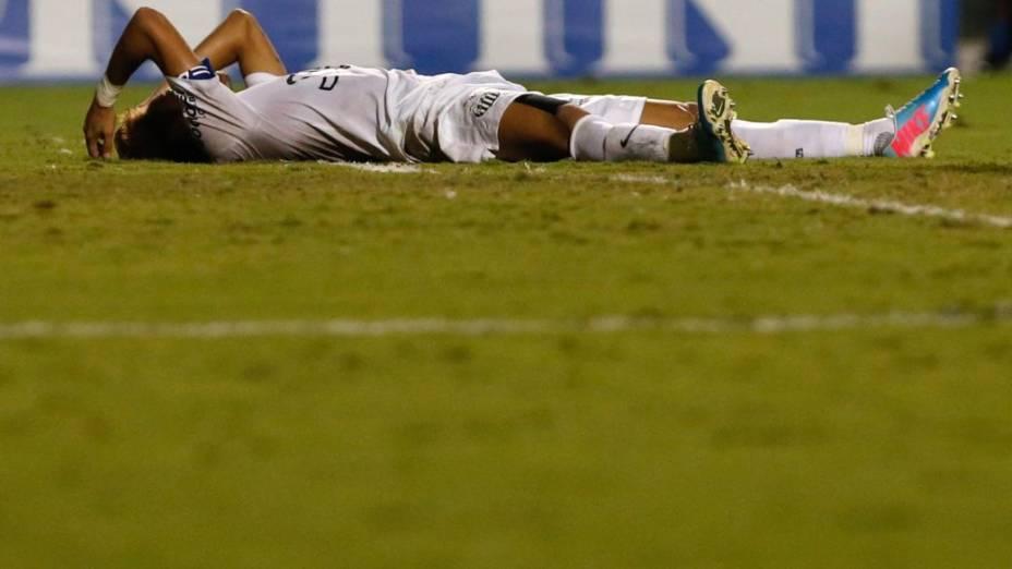 Neymar em jogo entre Santos e São Caetano, no Pacaembu, pelo Paulistão 2013