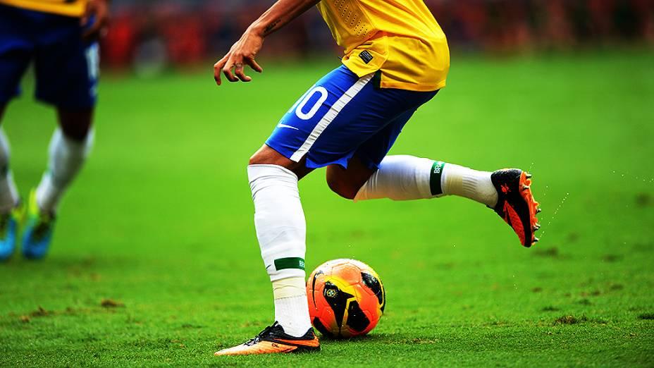 Neymar durante o amistoso entre Brasil e Austrália no estádio Mané Garrincha em Brasília