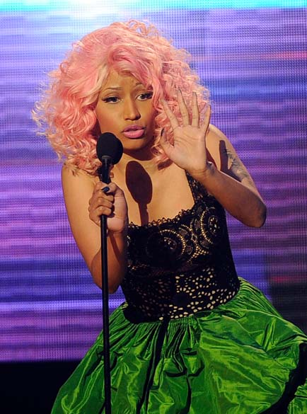 Nicki Minaj durante o American Music Awards 2011 em Los Angeles, Califórnia