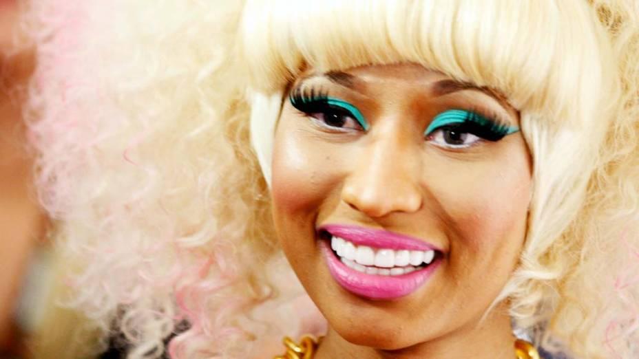"""Nicki Minaj durante o """"iHeartRadio Music Awards"""" em Las Vegas, em 2011"""