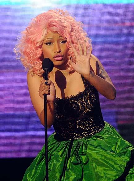 """Nicki Minaj durante o """"American Music Awards"""" em Los Angeles, em 2011"""