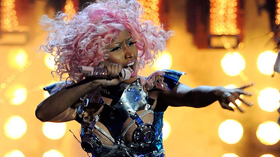 """Nicki Minaj durante apresentação no """"American Music Awards"""" em Los Angeles, em 2011"""