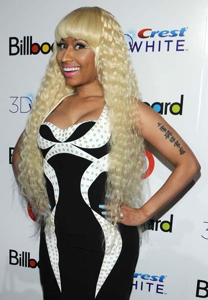 Nicki Minaj durante 6º evento da Billboard de mulheres na música em Nova York, em 2011