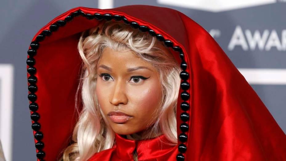 Nicki Minaj durante o 54º prêmio Grammy de música em Los Angeles, em 2011