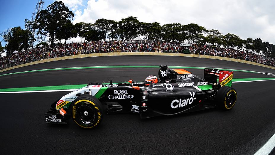 Nico Hulkenberg da Force India no GP Brasil de Fórmula 1