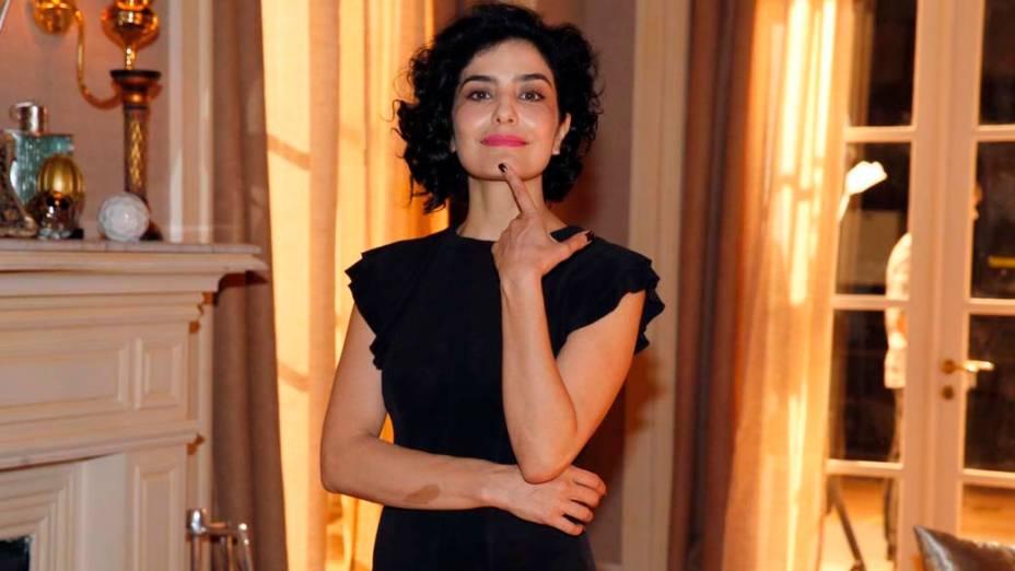 Letícia Sabatella no lançamento da novela Sangue Bomá