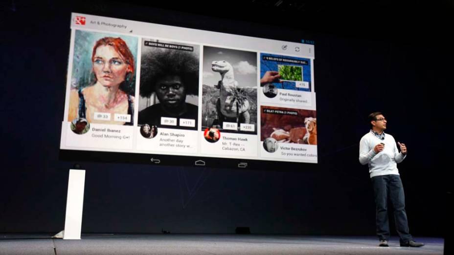 Vic Gundotra, diretor de produtos, apresenta o Google+ no Nexus 7