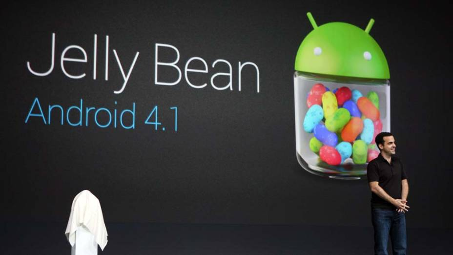 Hugo Barra apresenta o novo sistema operacional Android 4.1, o Jelly Bean