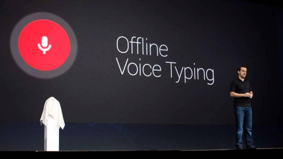 Apresentação do novo recurso de digitação por voz