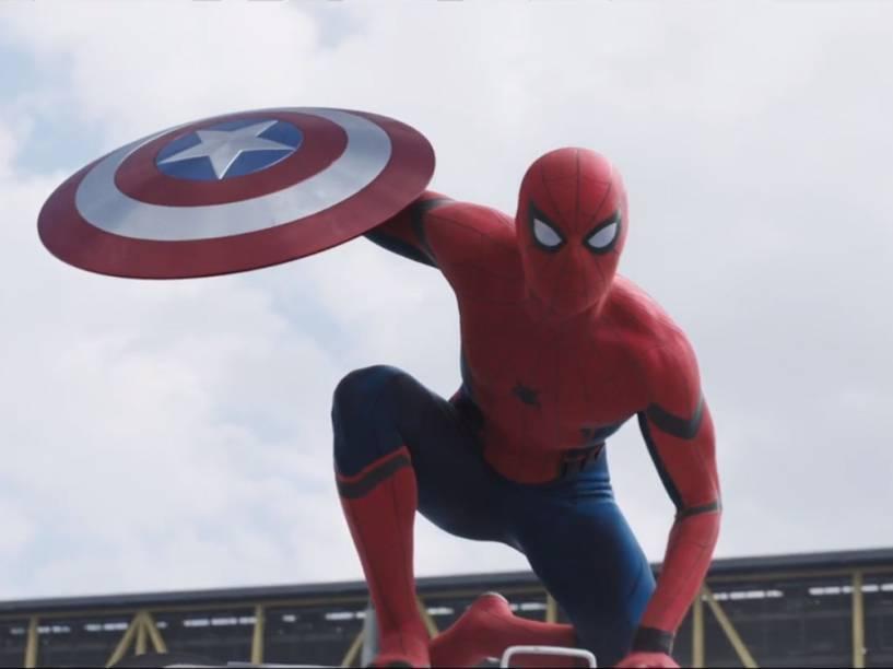 Novo Homem-Aranha no trailer de Capitão América: Guerra Civil
