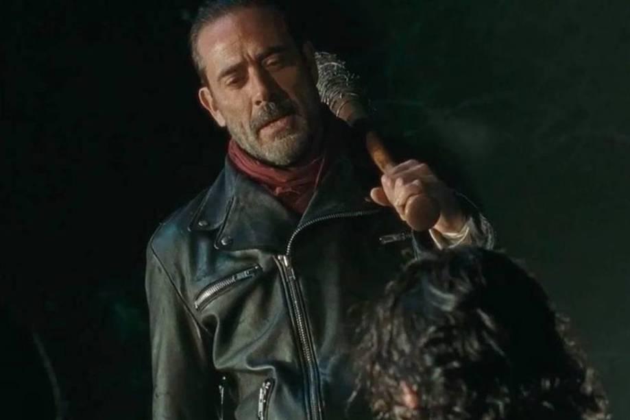O ator Jeffrey Dean Morgan na pele de Negan, o grande vilão de The Walking Dead