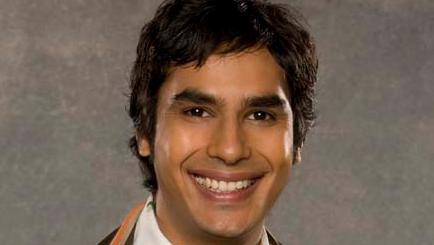 O ator Kunal Nayyar, que interpreta Raj em The Big Bang Theory
