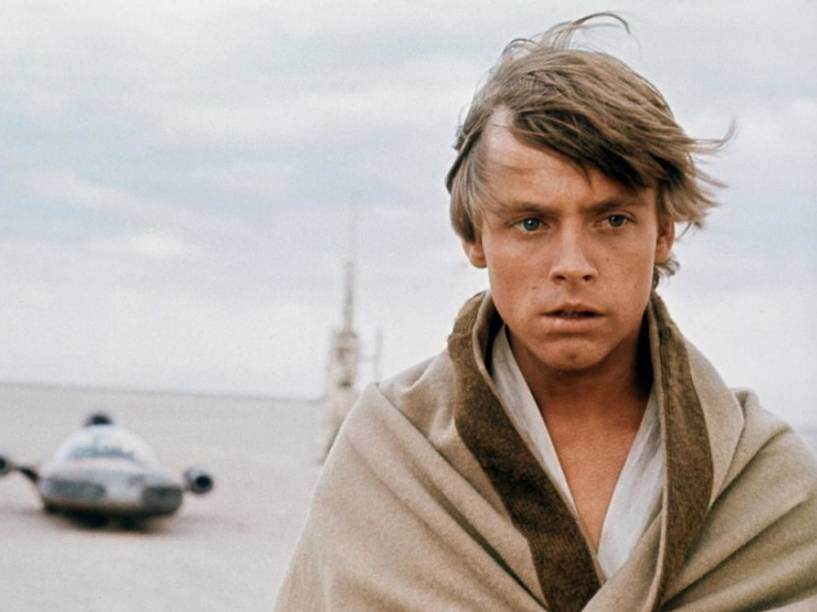 O ator Mark Hamill como o personagem Luke Skywalker de Star Wars