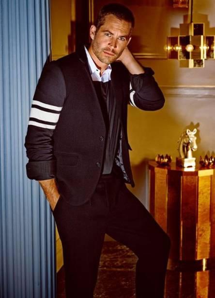 O ator Paul Walker, de Velozes e Furiosos, posa para campanha da grife Colcci