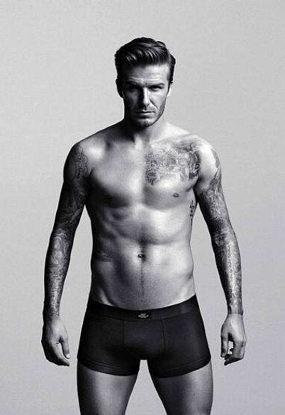 O jogador David Beckham em campanha de roupas íntimas