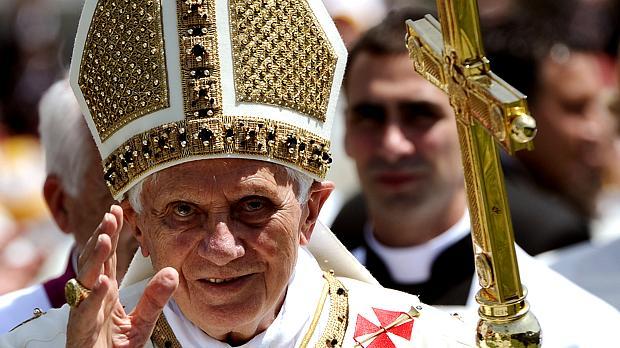 O papa Bento XVI esteve no Brasil pela primeira vez em 2007