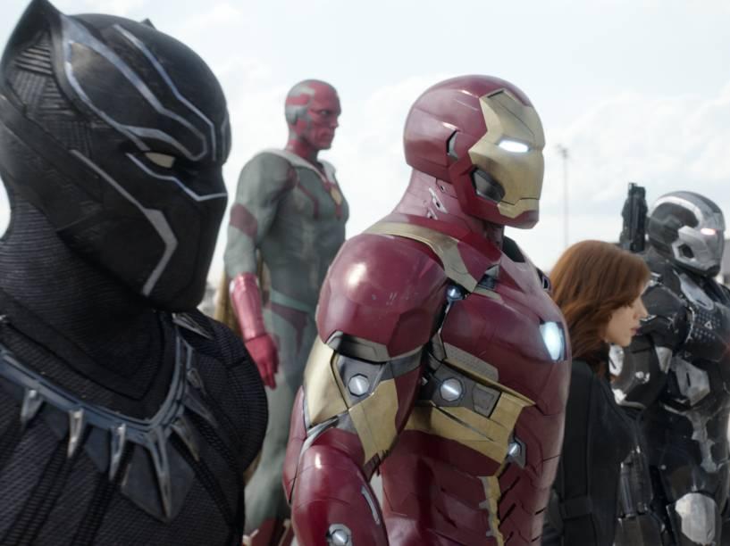 O time do Homem de Ferro no filme Capitão América: Guerra Civil